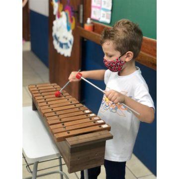 Aula de musicalização infantil e o despertar para os sons