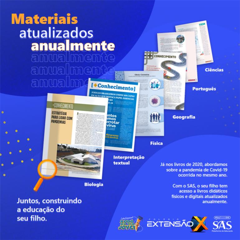 SAS - Materiais atualizados anualmente